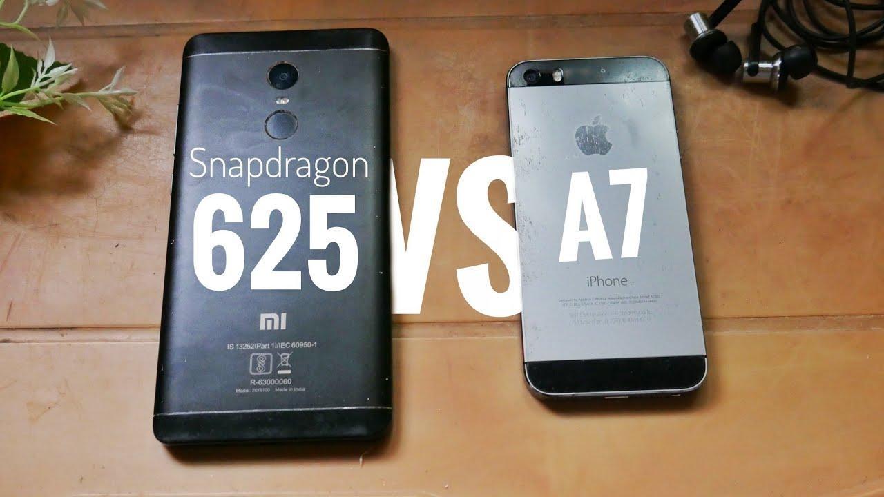 snapdragon 625 vs apple a7